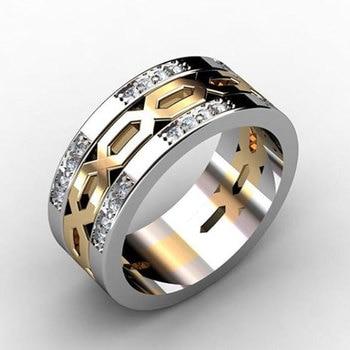 7fb05931bb2a Modyle 2019 nueva moda Zircon joyería de la boda de anillos de compromiso  para los hombres Vintage Punk de la joyería de la plata esterlina 925