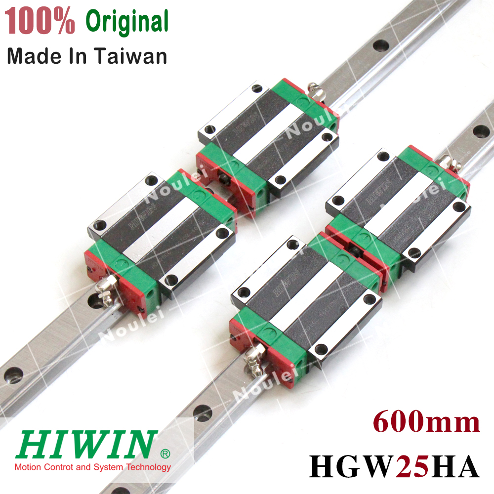 CNC Guide Rails 2pcs HIWIN HGR25 Linear Rail 600mm + 4pcs HGW25HA CNC Linear Guide Rail BlockCNC Guide Rails 2pcs HIWIN HGR25 Linear Rail 600mm + 4pcs HGW25HA CNC Linear Guide Rail Block