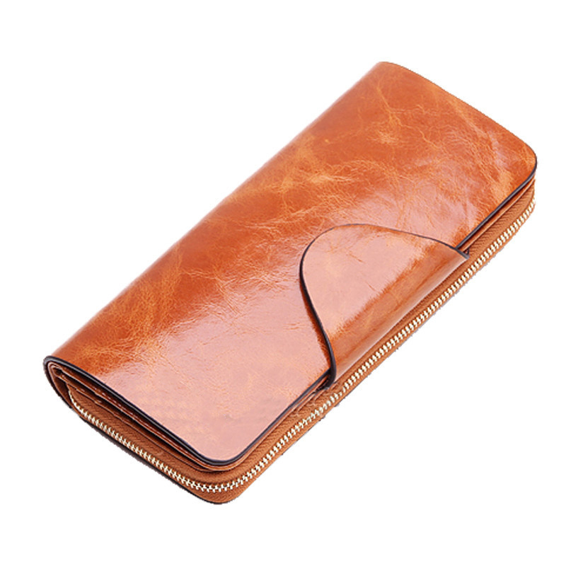 Hot Sales Female Wallets Zipper dollar price Genuine Leather wallet Men/Women Wallets/clutch carteira feminina