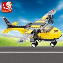 Sluban 110pcs Air Plane Airport T-Trainer Airplane 3D construction action figure Building Block Bricks Set lepin Compatible цена 2017