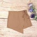 Saias de verão Das Mulheres 2016 Moda Assimétrico Curto Bandagem Saia da Praia do Verão de Cintura Alta Sensuais Faldas Cortas YZ #2814