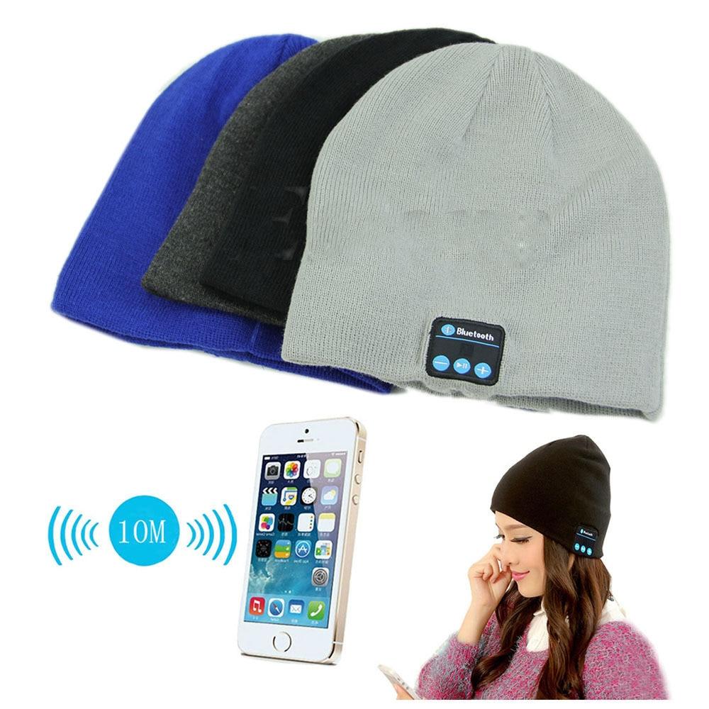 High Quality Soft Warm Beanies Hat Wireless Bluetooth Smart Caps Headset Headphone Speaker Mic