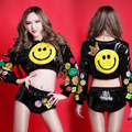 Conjunto Hiphop Ds Traje Sonrisa Patrón de lentejuelas trajes de Rendimiento de Desgaste