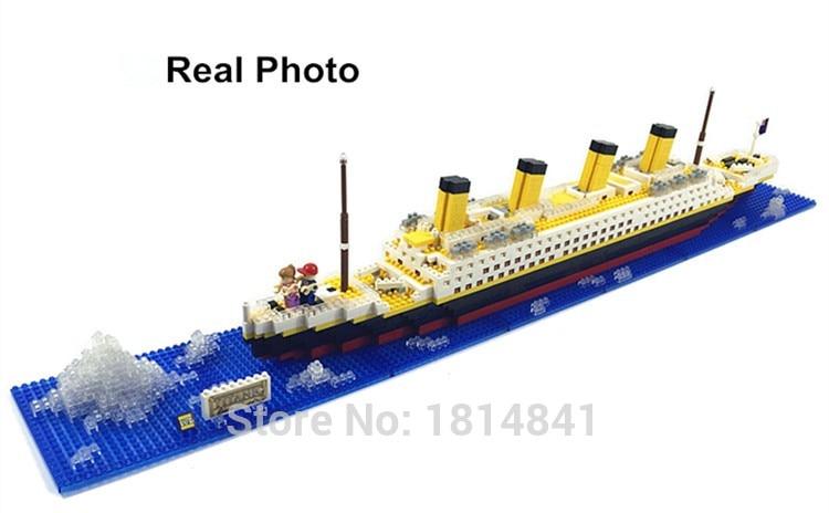 ФОТО RMS Titanic Ship 3D Building Blocks Toy Titanic Boat Model brick Educational Gift Toy for Kid building bricks