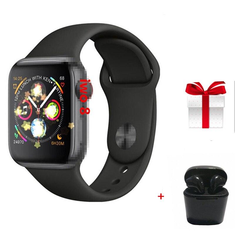 IWO 9 44MM Series 4 1 1 MTK2502C Bluetooth Smart Watch Fashion Red Round Button for