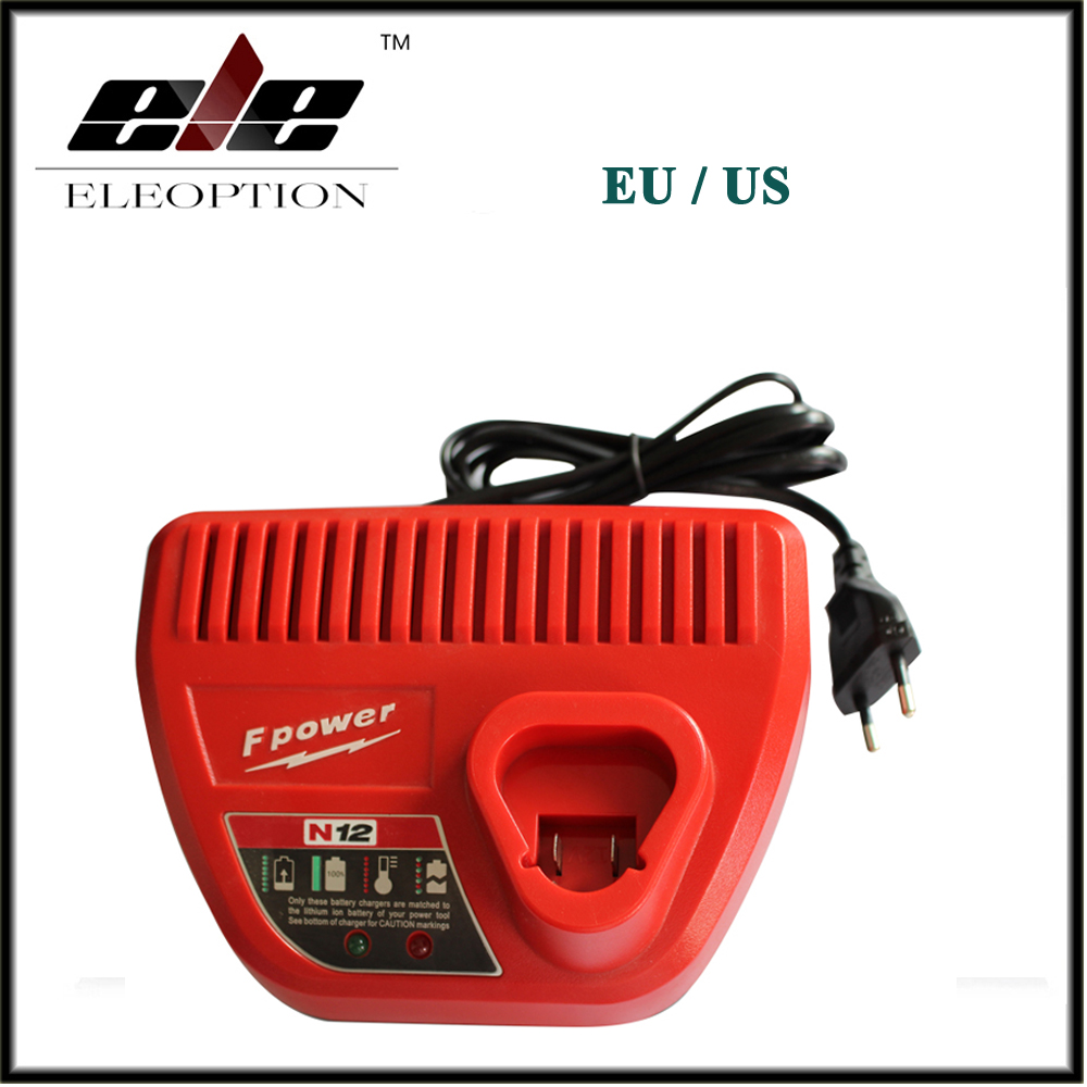 Eleoption M12 Li-ion Power tool Battery Charger 10.8V 12V For Milwaukee M12 48 - 11 - 24xx Series Lithium-ion Batteries 3pcs 12v lithium ion 1500mah power tool rechargeable battery with charger replacement for milwaukee m12 48 11 2401 48 11 2402 page 5
