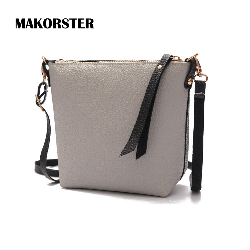 MAKORSTER Famous Brands Leather Shoulder Messenger Bags Ladies Crossbody Bag Female Luxury Handbags bags for women 2017 SMT071 green hill макивара green hill coach