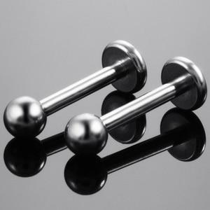 Image 4 - 50pcs/lot G23 Grade Titanium Labret Piercing Morne Lip Ring Body Jewelry Piercing Hot sale  labret Piercing Wholesale