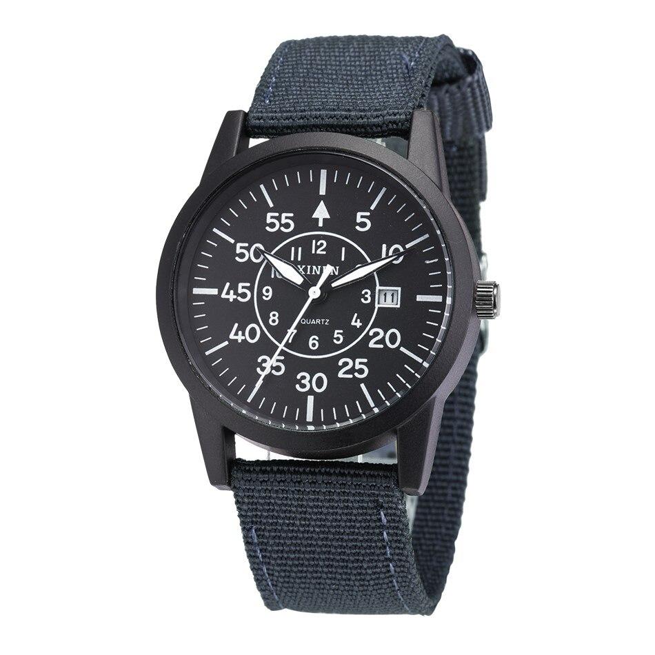 XINEW Military Watches Nylon Calendar Fashion-Design Casual Brand Original Quartz Masculio-De-Marca