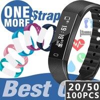 100PCS ID115 F0 Smart Bracelets Fitness Tracker Step Counter Activity Monitor Band Alarm Clock Vibration Wristband
