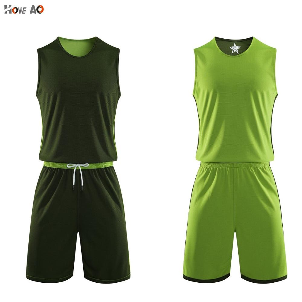 HOWE AO Adult <font><b>Men</b></font> Reversible Basketball Jersey Sets Sports clothes Double-sided Vest And <font><b>Shorts</b></font> Customized Training <font><b>Suits</b></font> image