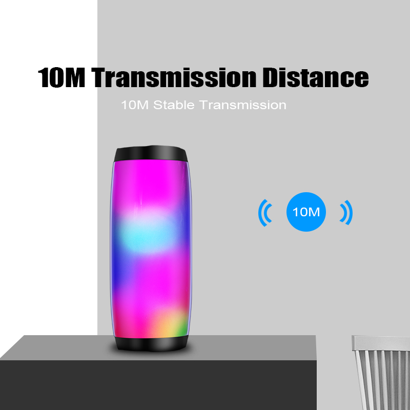 Wireless Bluetooth Speaker LED Portable Boom Box Outdoor Bass Column loudspeaker Sound Box with Mic Support TF FM USB Subwoffer in Portable Speakers from Consumer Electronics