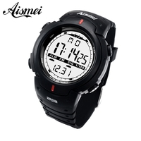 Men Sports   Watches   Male Dress Clock 50M waterproof Fashion   Digital     Watch   Army Military Multifunctional Wristwatches 2018