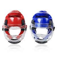 Taekwondo Helm Erwachsene Jugend Kinder Sport Kampf Gesicht Kopf Schützen Getriebe Abnehmbare Transparente Maske für Boxen MMA karate
