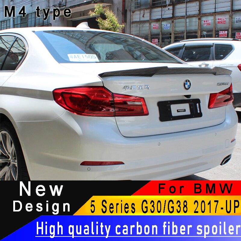For BMW 5 Series G30 530i 540i 2017UP Carbon Fiber Rear Wing High Quality Carbon Fiber