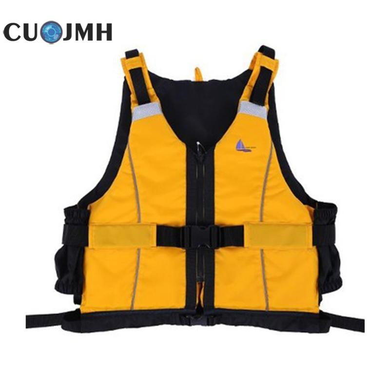 1 Pc Polyester Adult Life Vest Jacket Swimming Boating Drifting Exercise Life Vest S-XL Water Sports Safety Clothing men s life vest adult women s vest grey neoprene vest for surfing fishing swimming drifting