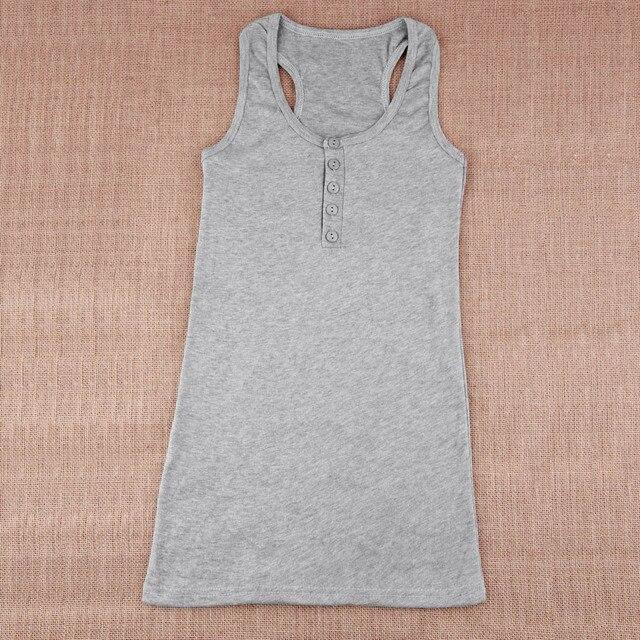 1Pc Ladies Multicolor Long Sleeveless Bodycon Temperament Cotton Long T-shirt Tank Top Women Vest Tops regatas feminino Hot