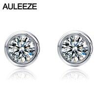 Moissanite Diamant Boucles D'oreilles 925 Sterling Argent 0.6 cttw Lab Grown Diamant de Fiançailles Boucles D'oreilles Pour Les Femmes Bijoux En Argent