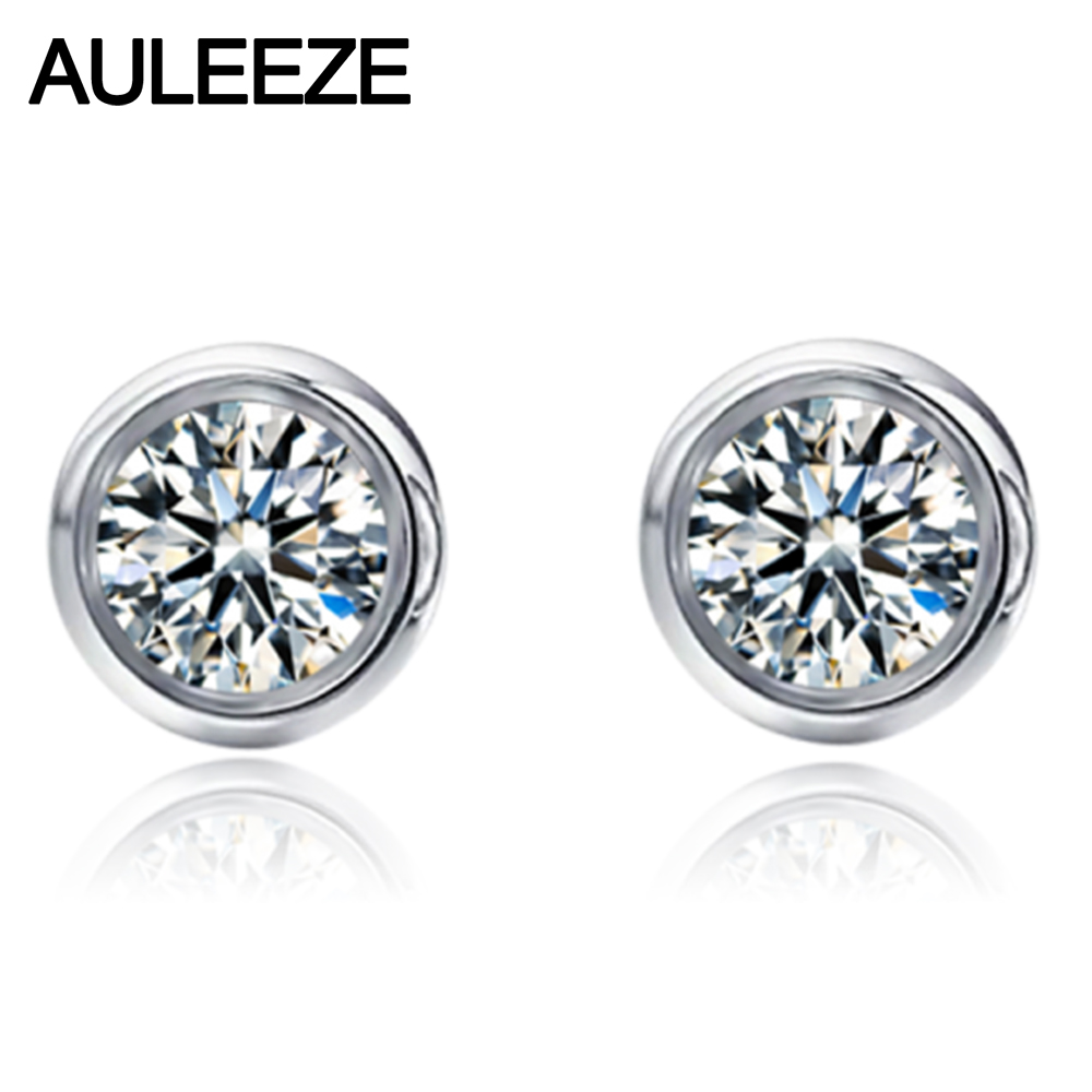 Moissanite Diamond Earrings 925 Sterling Silver 0 6cttw Lab Grown Engagement Stud For Women Jewelry In From