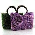 New 2016 Fashion Womens Straw Summer Weave Woven Shoulder Tote Shopping Beach Bag Purse Handbag Straw Beach Bags 0688