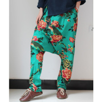 Branch Brand Spring 2015 Folk Style Pants Pants Crotch Pants Cotton Stitching Casual Pants Pants Crotch