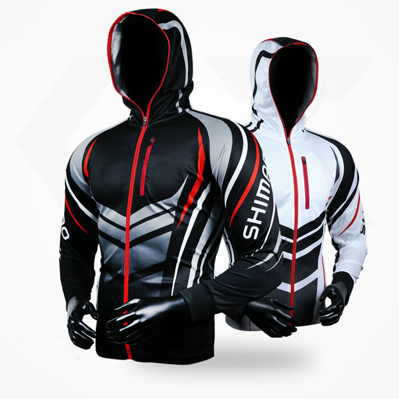 2018 new summer Fishing Clothing Hooded Men Jacket Waterproof Quick-Drying Coat Fishing Shirt For Hiking Cycling Fishing Clothes