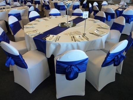 10pcs Royal Blue Wedding Satin Sash Sashes Banquet Bows