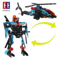 Double E Creative toys 2 In 1 Model Helicopter And Tank Block Build Toy STEM Toy For Sale