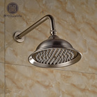 Nickel Brushed Wall Mount Rain Shower Head Stainless Steel with Brass Shower Arm