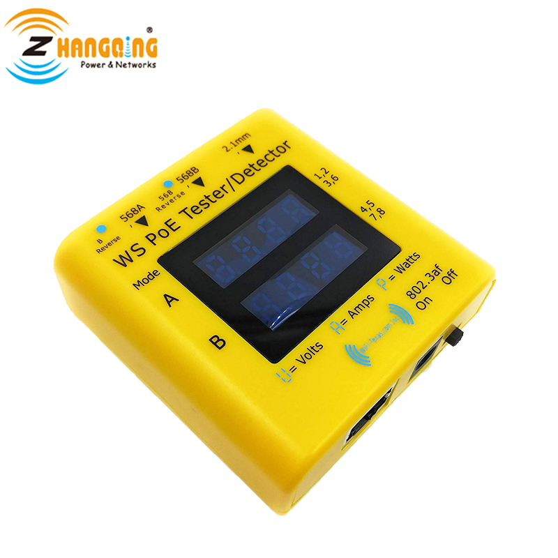 PoE Tester For Passive, 802.3af And 802.3at Application, For Testing PoE Camera, IP Phone, WiFi Access Point And Power Supply