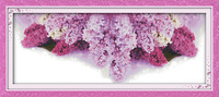 Floral language of lilac Printed Canvas DMC Counted Chinese Cross Stitch Kits printed Cross stitch set Embroidery Needlework