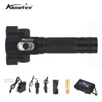 AloneFire X180 CREE T6 5000 Lm LED Flashlight Torch Light 18650 Rechargeable Battery 360 Degree Rotating