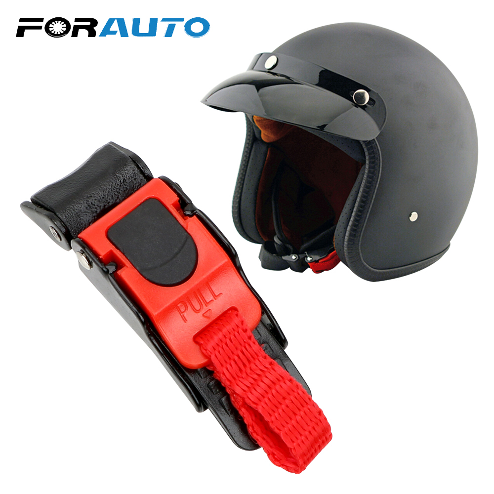 Heavy Duty Quick Release Buckle Clip Cord Chin Strap Bag Motorcycle Helmet New