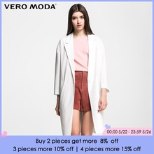 Vero Moda Brand 2018 NEW fashion single button long full sleeve solid color trench