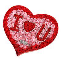 Handmade Gradiente di Simulazione della Rosa Sapone Fiore Matrimonio Romantico Favore Profumato Bagno di Casa Festa di Compleanno Regali di san Valentino Rosso