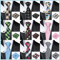 2016 Fashion Ties for men Plaid Silk Jacquard Necktie+hanky+Cufflinks Set For Men Business Wedding Party Free Shipping
