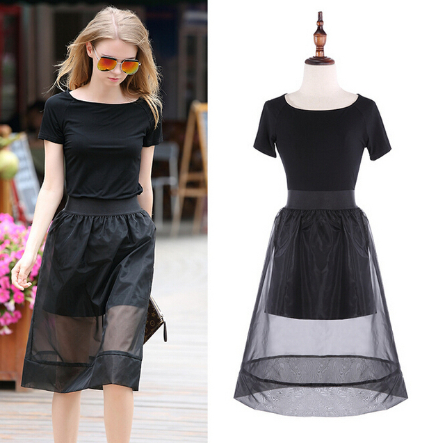 Aliexpress.com : Buy Black Summer Skirts 2 Piece Set Women Top And ...