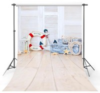 White Wooden window Lifebuoy Starfish Summer nautical photography backgrounds Vinyl cloth Computer print party backdrops