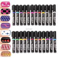 Nail Art Pen Painting Design Tool Drawing For UV Gel Polish 24 colors