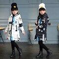 Padrão de Moda Meninas de Algodão-acolchoado Roupas Casacos/casacos de Inverno Rússia Bebê Casacos Grossos Crianças Casaco Quente Jaquetas Outerwears