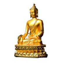 Amazing Exquisite Gilt Gautama Buddha Statue Tibetan Tantric Buddharupa Alloy Bhaisajyaguru Figurine on-board Crafts Decoration