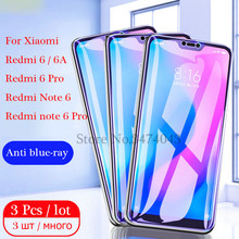 цена на 3Pcs/lot 2.5D Tempered Glass For Xiaomi Redmi note 6 Pro Screen Protector For Xiaomi Redmi 6A note 6 Pro Glass Anti-Blu-ray