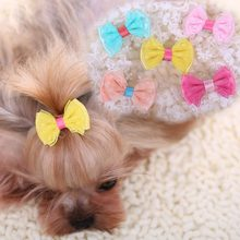Cute Dog Hair Clipper Hairpin Headdress for Teddy Yorkshire Bowknot Dog Pet Puppy Grooming Acessories Supplies