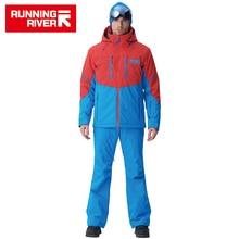 RUNNING RIVER ยี่ห้อผู้ชายคุณภาพสูงแจ็คเก็ตสกีฤดูหนาว Warm Hooded กีฬาแจ็คเก็ตสำหรับ Man Professional กลางแจ้งชุด # N6417O6457