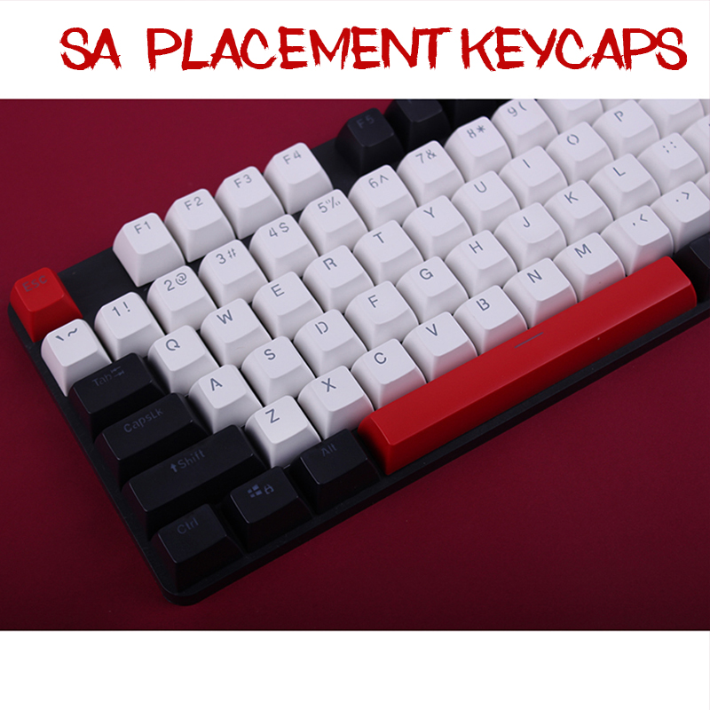 104 Keys/set SA Height Keycaps New Arrival Double-Shot Backlit Ball PBT Carbo Key Caps For Cherry MX Mechanical Keyboard