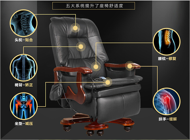 Fine Us 6075 16 9 Off Upgraded Version Boss Chair 100 Genuine Leather With Massage Function O Ffice Computer Chair President Competent Manager Chair In Machost Co Dining Chair Design Ideas Machostcouk