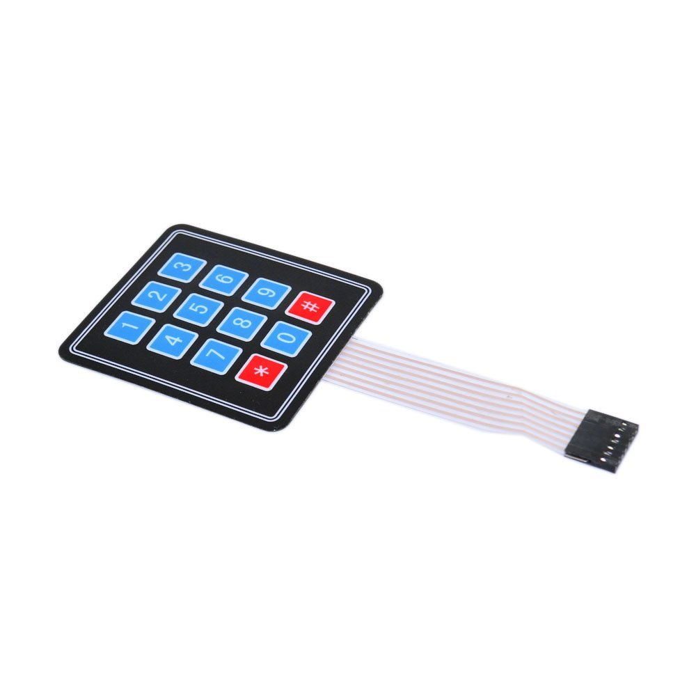 4 3 Matrix Array 12 Key Keypad Keyboard Sealed Membrane 43 Button Four Digit Operated Switch 34 Control Panel Single