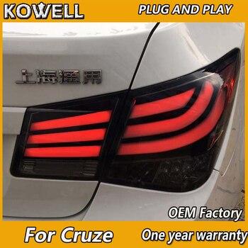 KOWELL Car Styling  for Chevrolet Cruze 2009-15 Tail Lights 5-Series Design Cruze LED Tail Light Rear Lamp DRL+Brake+Park+Signal