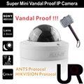 Super Mini 12 pcs IR LEDs Indoor Onvif IP Câmera À Prova de Vandalismo com 2.8mm de Largura Ângulo de Visão Lente Projetada para AS FORMIGAS e Hikvision NVR