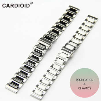 6 color Fashion 14/16/18/20/22mm Ceramic Watch Strap Soft Smooth Ceramic Fill Multi-Design WatchBand Stainless Steel Common Band